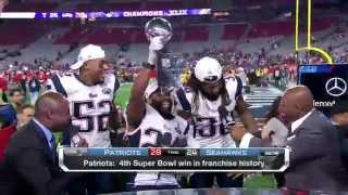 Patriots crash NFL Network set with the Lombardi Trophy