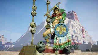 Cuauhtémoc, el último tlatoani mexica. Tenochtitlán, 1521. 75mm scale figure