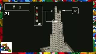 LEGO instructions - LEGO Architecture - 21008 - Burj Khalifa