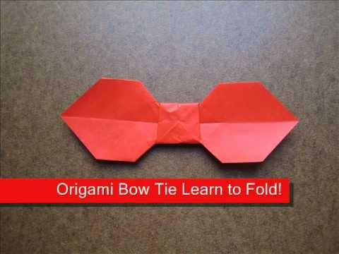 How to Make a Simple Origami Bow Tie - YouTube - photo#10