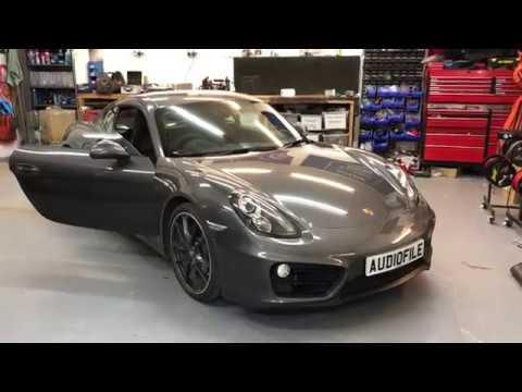 Porsche Cayman Audio Upgrade with Apple Carplay.