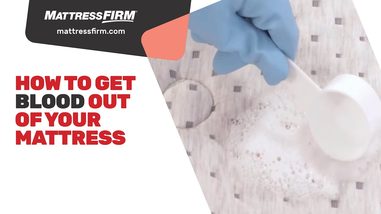 How To Get Blood Out Of Your Mattress Youtube