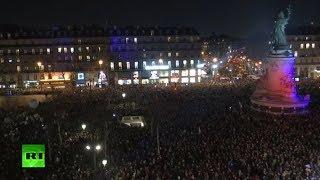 Protesta masiva contra el antisemitismo en París