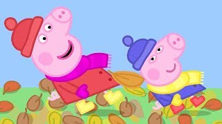 Peppa Pig Episodes - Peppa and the Autumn Wind - Cartoons for Children