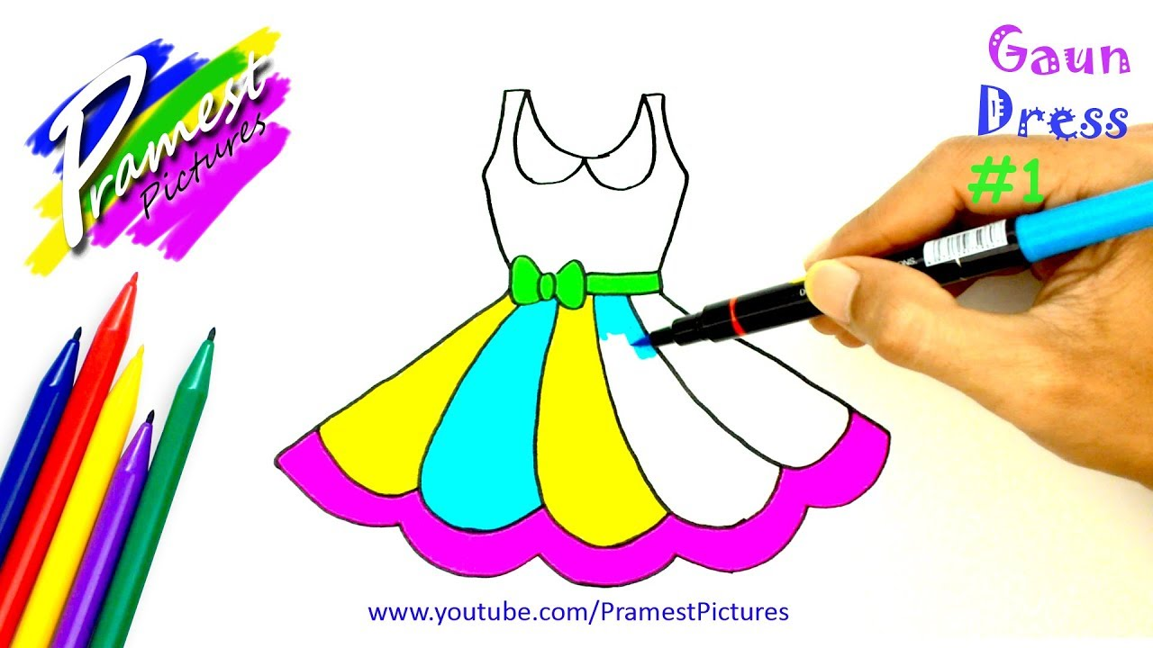 How To Draw Dress - Coloring Pages For Kids