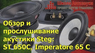 Обзор и  прослушивание  акустики Steg:  ST 650C, Imperatore 65 C