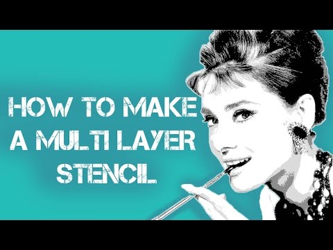 How To Make a Multilayer Stencil On Photoshop (Re-Made)