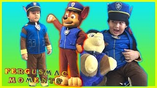 Paw Patrol Chase Costume Unpacking and Fitting. Super nice and cool Chase Costume