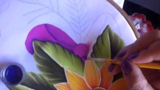 Pintura en tela camino de girasol # 3 con cony