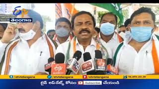Champapet Division Congress Leaders Hold Bizarre Protest   Against Petro Price Hike
