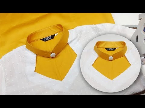 New kurti collar neck design with wide neck and button easy DIY tutorial for beginners
