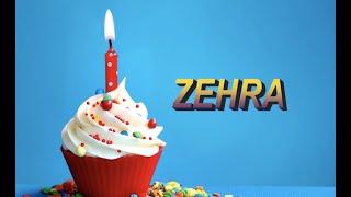 Bugün senin doğum günün ZEHRA - Sana özel doğum günü şarkın