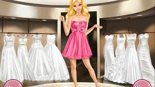 NEW Мультик онлайн для девочек—Барби выбирает свадебное платье—Игры для детей