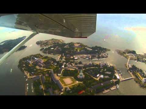 Flying over Helsinki - Kaivopuisto, Ullanlinna, Korkeasaari, Katajanokka, Suomenlinna