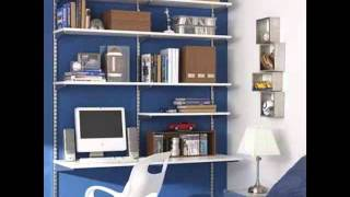 Shelving Desk Wall Storage Shelves Picture Collection