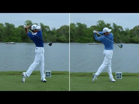 Jason Day and Rory McIlroy's swing comparison at Dell Match Play