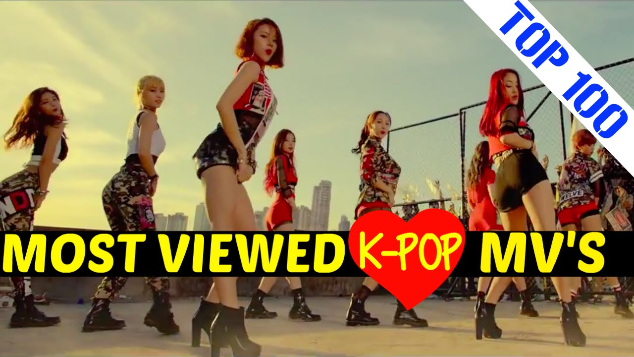 Top 100 Most Viewed K Pop Music Videos February 2016 Youtube