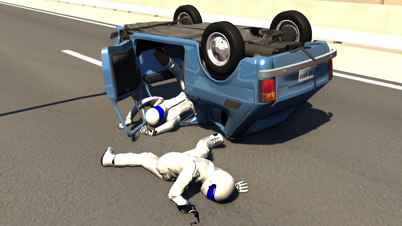 BeamNG.Drive Mod : Fiat 126p/Maluch + Stig Crash Testing HD #1