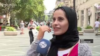 Ərəb turistləri Bakıda
