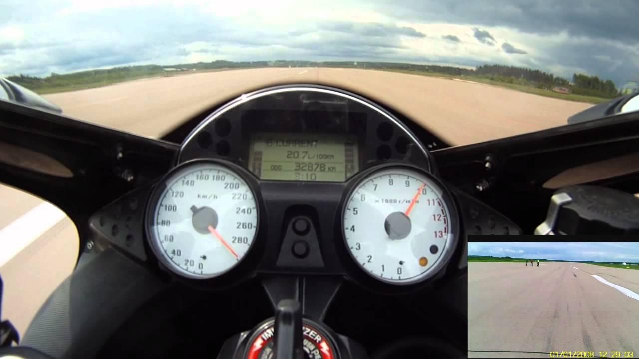 ZX-14 Top Speed Run, Standing Mile - 18.6.2011 Halli - YouTube