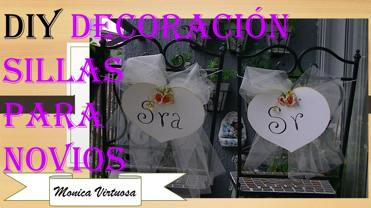 Decoraci n para sillas de novios youtube for Sillas para novios en la iglesia