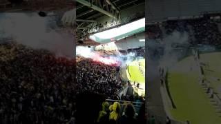 Nantes Bordeaux fumigène au stade de la beaujoir