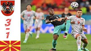ไฮไลท์ฟุตบอลเมื่อคืน ออสเตรีย3-1มาซิโดเนีย ฟุตบอลยูโร 2020-2021