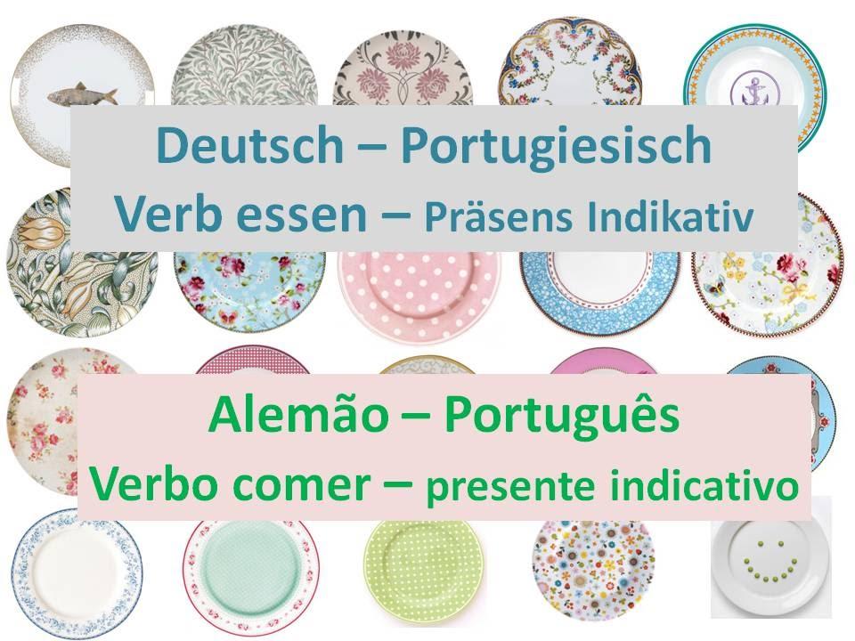 Aqua Essen verbo comer em alemão verb essen auf portugiesisch