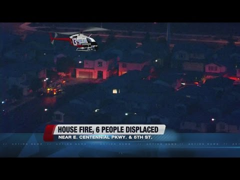 6 People Displaced In North Las Vegas Fire