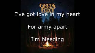 Greta Van Fleet - Edge of Darkness - Lyrics