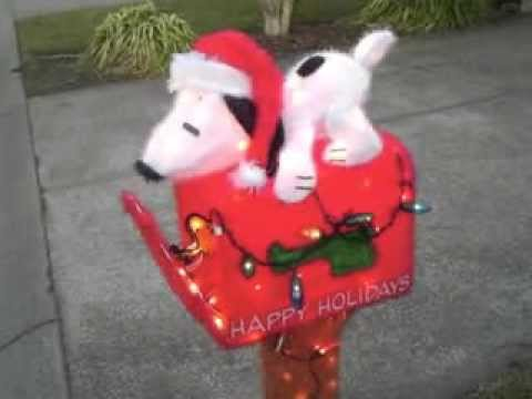snoopy woodstock christmas mailbox - Snoopy And Woodstock Christmas