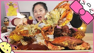 SPICY DUNGENESS CRAB SEAFOOD BOIL   MUKBANG
