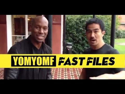 """FAST & FURIOUS 6"" BTS Joe Taslim Gives Tyrese an Indonesian Greeting"