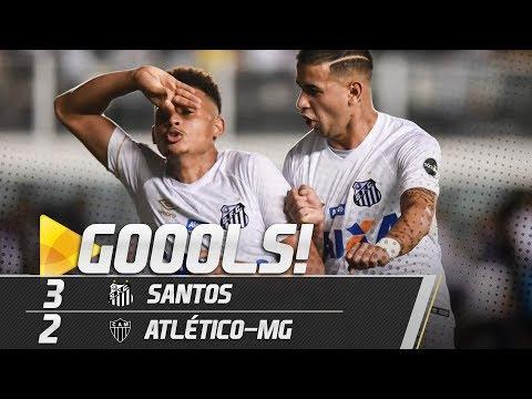 Santos 3 x 2 Atlético-MG   TODOS OS GOLS   Brasileirão (24/11/18)