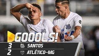 Santos 3 x 2 Atlético-MG | TODOS OS GOLS | Brasileirão (24/11/18)