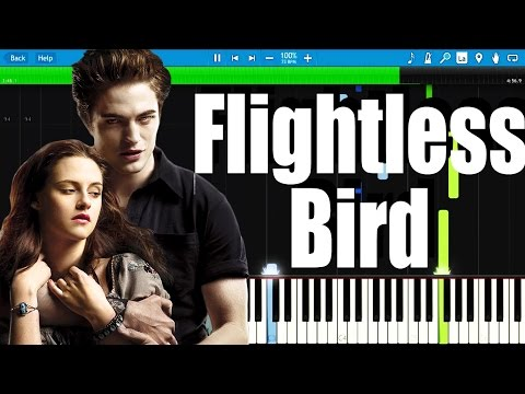 Flightless Bird American Mouth Twilight Soundtrack  Synthesia Piano Tutorial