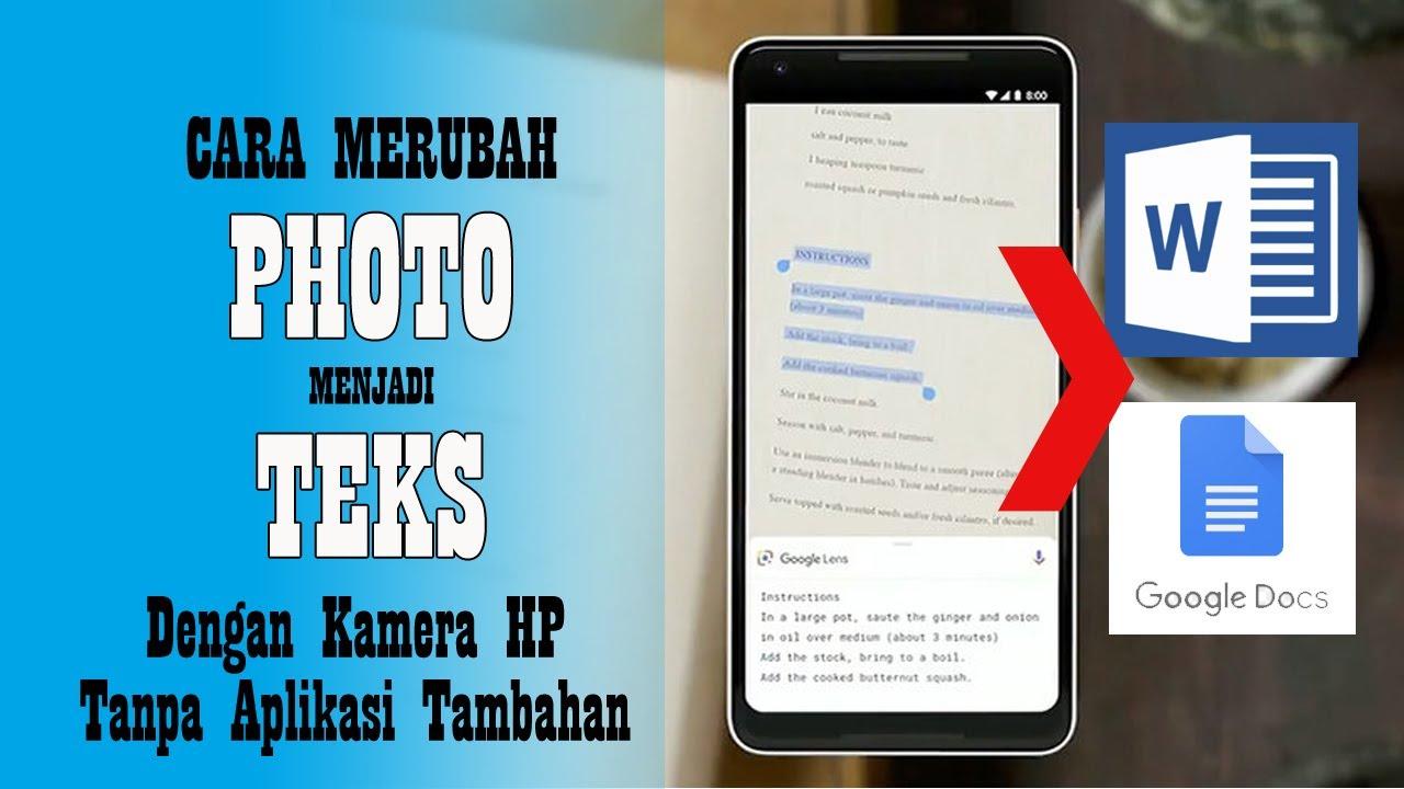 Cara Merubah Foto Menjadi Teks Dengan Kamera Hp Android Tanpa Aplikasi Tambahan Youtube