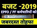 PF Latest News from Budget 2019 India |  EPFO,EPF,PF Latest News 01 February 2019 | Technology up