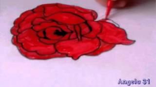 Как нарисовать розу.Видео урок.(Привет! Рада приветствовать тебя на своём канале. Не суди строго это моё первое видео. Подпишись на меня..., 2015-06-04T08:14:44.000Z)