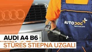 Stūres šķērsstiepņa uzgalis uzstādīšana AUDI A4 (8E2, B6): bezmaksas video