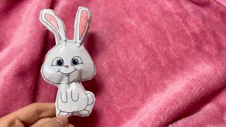 마이펫의 이중생활 스노우볼 종이 스퀴시 만들기 | 토끼…