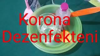 Korona Virüsüne Karşı Dezenfektan'ı Evde Kendin Yap?Genel Temizlik Dezenfektanı?Corona Virüs