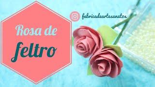 Rosa de Feltro – Dicas para Decoração