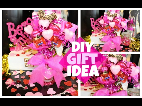 Easy DIY Valentineu0027s Day Gift Idea | Candy Bouquet   YouTube
