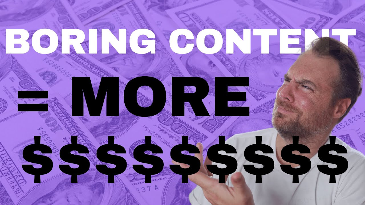 Why BORING CONTENT Will Make You MORE MONEY (Seriously) | Location Rebel