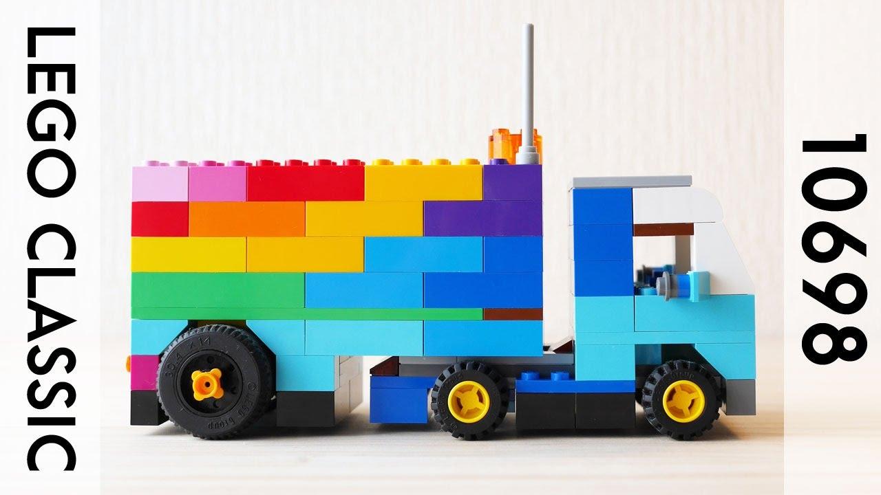 Building a simple LEGO trailer, using Classic 10698 (レゴ:トレーラー・トラック 作り方)