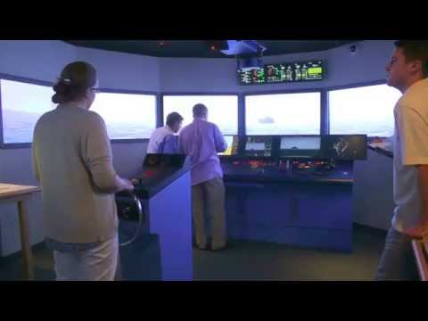 Bangor Savings Bank trainees use MMA ship bridge simulator - Castine Patriot