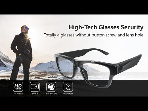 Touch Control Eyeglasses Hidden Camera - 1080P from YouTube · Duration:  26 seconds