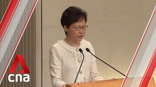 HK leader Carrie Lam expresses deep regret at 'interference by foreign parliaments'