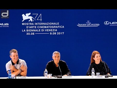 Venice Film Festival 2017: SUBURBICON Press Conference with Clooney, Damon & Moore